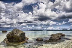 On the Rocks (karen walzer) Tags: ocean travel sea vacation cloud water coral rock japan landscape island asia stock tropical okinawa hdr ishigaki earthasia