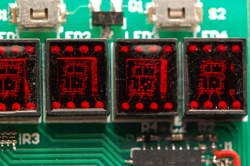 LED Wristwatch - Closeup of LEDs
