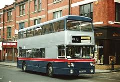 Fleetline 6710 on hire to Stevensons 1994 (Walsall1955) Tags: bus buses daimler broadstreet fleetline westmidlandstravel wolverhampton twm stevensons mcw 511 6710 metrocammell wmt wmpte daimlerfleetline westmidlandspte restandride restride sda710s