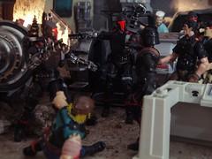 We Will Hold Them Off (Dudesnbots) Tags: toys cobra joe transformers diorama gi autobot decepticon