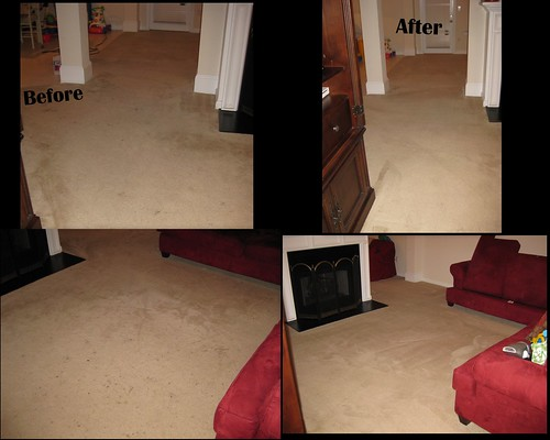 before/after the rug doctor!