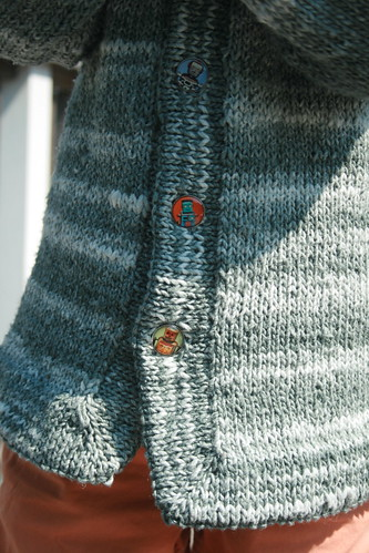 "button detail of ""jedi"" sweater"