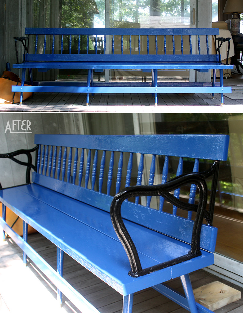 blue bench - after