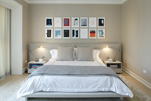 City Retreat - Master Bedroom A by Jessica Lagrange Interiors