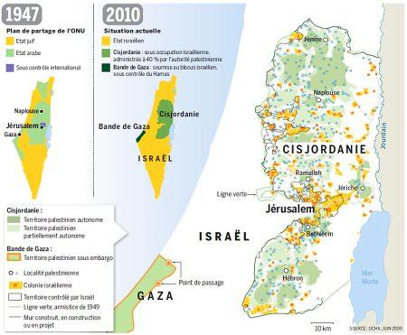 10h31 LMonde Israel 1947 2010 Posibilidad imposibilidad crear un Estado palestino