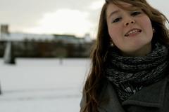 Anna et Marie // 004 (tiphaine_robion) Tags: woman snow smile de femme young neige sourire ville caen htel jeune