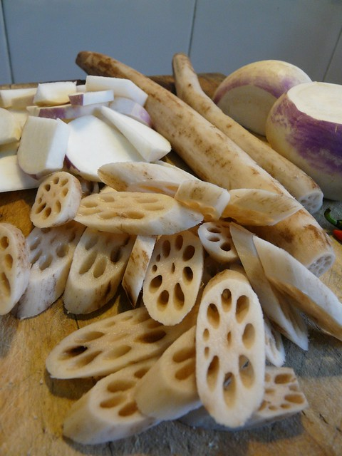 turnips and lotus root