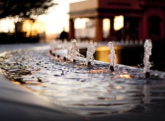 bubbling bokeh (Andy Kennelly) Tags: california new city sunset tree wet water fountain night lights photo los italian backyard downtown angeles bokeh flight tourist historic angels jersey date