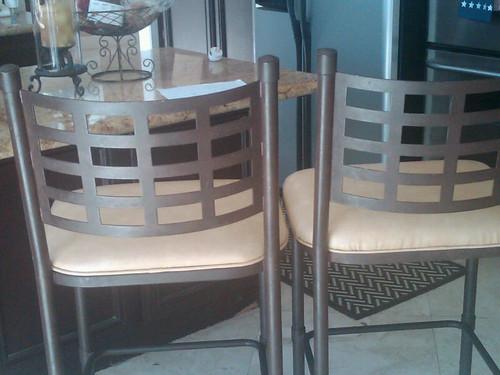 a leather bar stool.