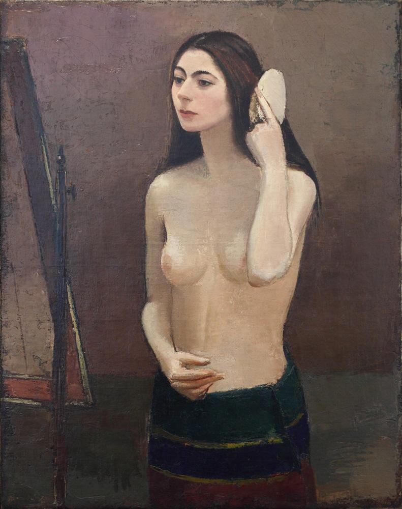 Sergius Pauser, Mädchen vor dem Spiegel [Girl in Front of the Mirror], 1931