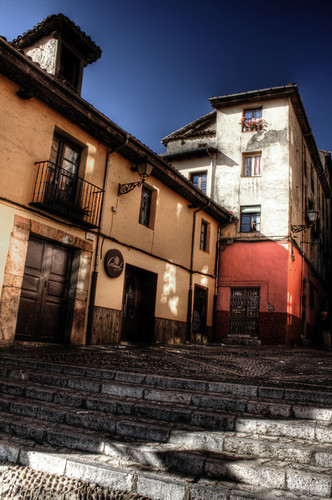 Stairs and houses. Leon. Escaleras y casas