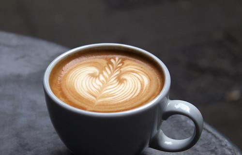 Barista's morning coffee