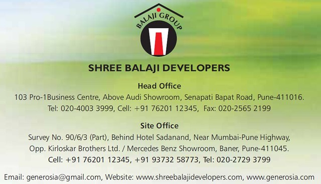 Contact for Booking - Balaji Generosia Baner