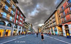 Corso Vittorio Emanuele II - Avellino (gilmolm) Tags: street sky italy woman cloud girl photoshop canon shopping geotagged strada italia nuvole campania perspective wideangle corso cielo hdr lightr