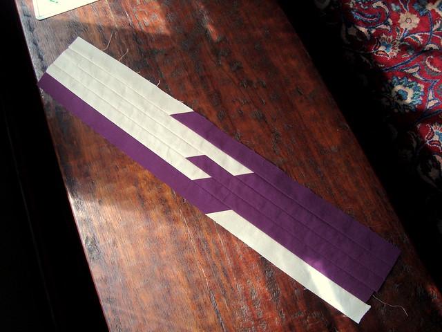 strips sewn