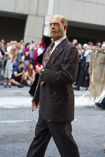 Corporate American Zombie in the 2010 Dragon*con Parade
