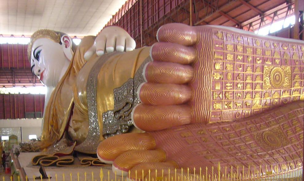 Giant Reclining Buddha's feet