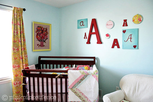 crib corner and wall art