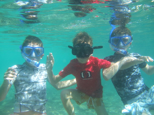 Brothers underwater