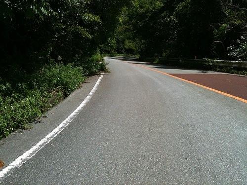 沖縄本島北部の東側はきついアップダウンが延々続く…。