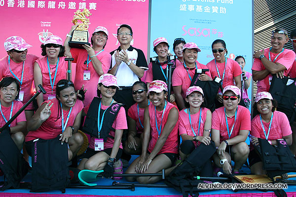 The victorous Pink Spartans who did Singapore proud