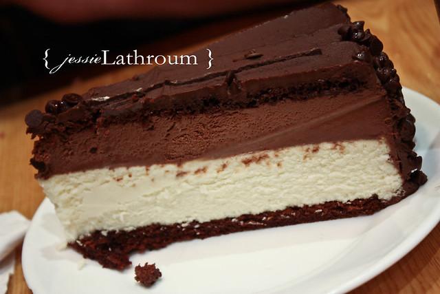 NY Cheese Cake/Choc Mousse cake