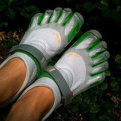 Nike+ chip on Vibram FiveFingers Bikila