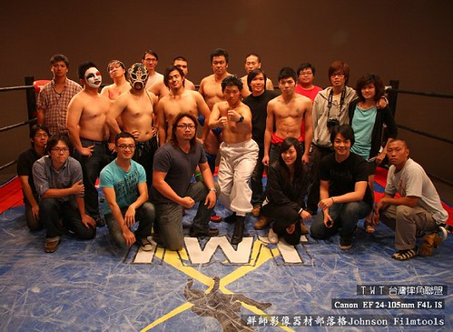 台灣摔角聯盟-正面迎擊紀錄片電影拍攝現場