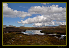 West Donegal Reflections (fitzinthehome) Tags: blue ireland sky brown reflection green clouds heather heath bog reflexions donegal