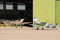 Spitfires Old And New. (stonefaction) Tags: scotland display fife aircraft air airshow planes raf arrivals leuchars 2010