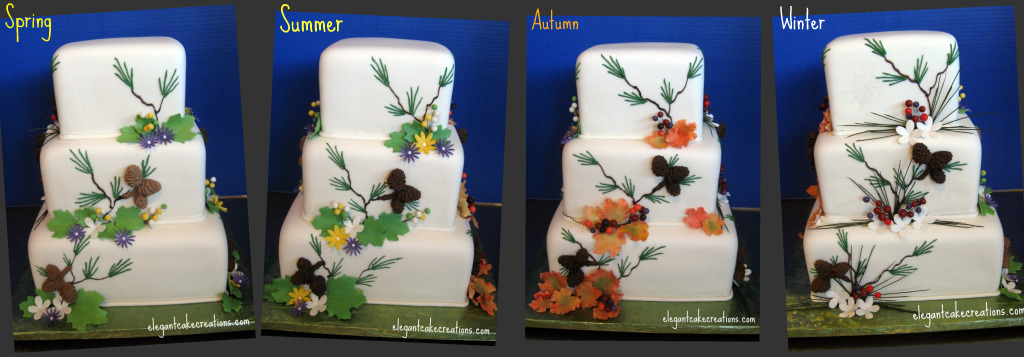 Seasons Wedding Cake