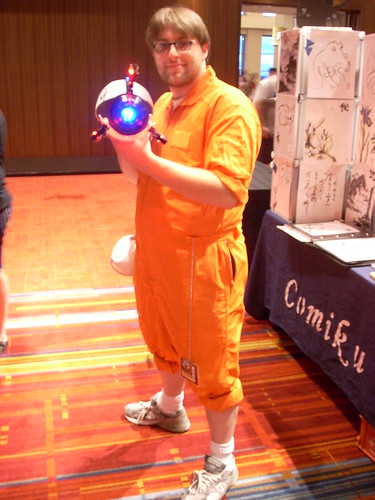 portal 2 chell cosplay. Male Chell cosplay