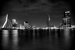 Rotterdam by Night (aruitenberg) Tags: night rotterdam flickr erasmus montevideo hotelnewyork laspalmas hollandamericaline ovg kpntower 100911 maastoren iluminatinl aruitenberg luxortheather