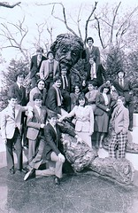 STS 1981 New York Finalists at the Einstein statue outside of NAS (Society for Science & the Public (SSP)) Tags: dc washington 1981 ssp sts societyforsciencethepublic