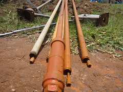 Ehikhoni pri.school-rusted rods,sunctions and GI of juakali pump.