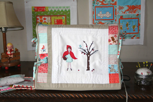 little red riding hood sewing machine cover!!
