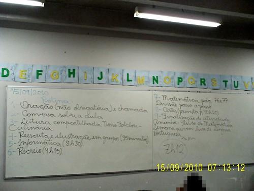 Rotina Prevista - 15/09/2010
