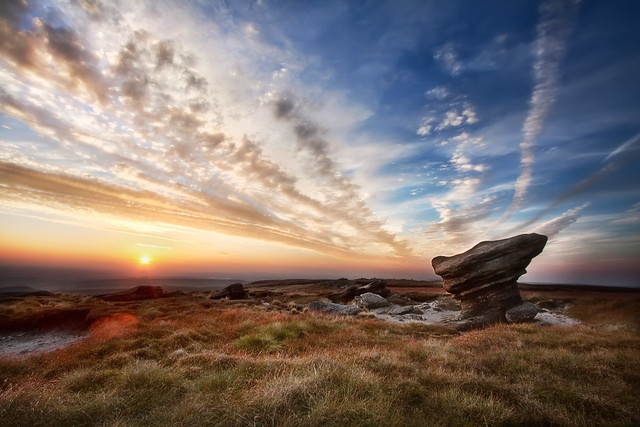 'Odd Formations', England, The Peak District, Kinder Scout Hilltop
