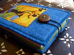 mama in africa ...::wool felt notebook::...
