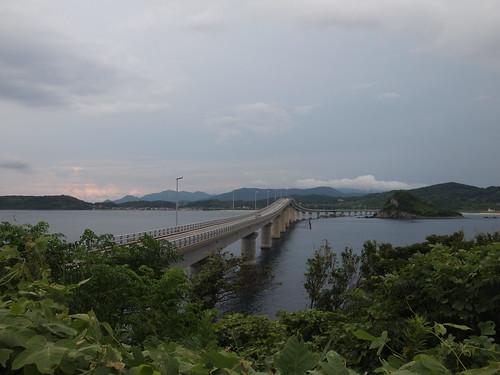 角島 瀬崎陽の公園から見た角島大橋