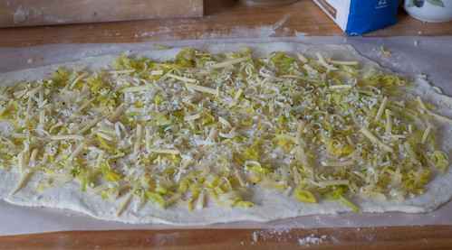 leek and dough prep