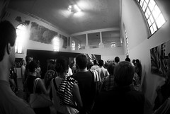 opening (mrzero) Tags: blackandwhite bw hungary gallery eger exhibition opening zero cfs mrzero coloredeffects kiszsinagoga