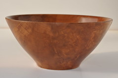 Callery Pearwood Bowl, with filled cracks (Brian Havens) Tags: wood bowl pear turning woodturning pearwood callery