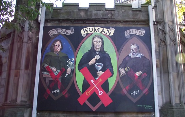 Saint John's Church mural for Pope's visit to Edinburgh