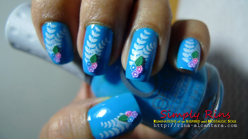 Nail Art Something Blue 04