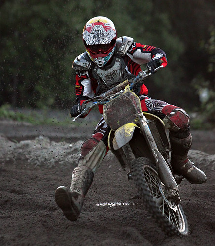 motocross corner dirt