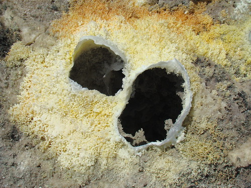 Minerales sublimados por exhalación volcánica - Dallol (Danakil, Etiopía) - 14
