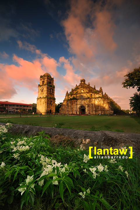 Paoay Church at Sundown