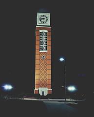 Tower (Miss Sydney Marie) Tags: night outside lights clocktower gvsu