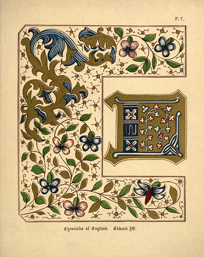 008 Cronicas de Inglaterra de Eduardo IV-A primer of the art of illumination for the use of beginners.. 1874-Freeman Delamotte